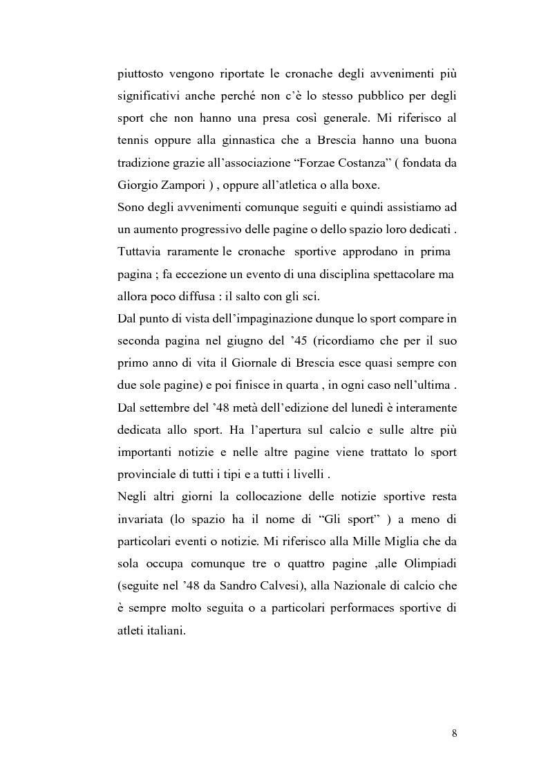 Anteprima della tesi: Le cronache sportive nella stampa bresciana del secondo dopoguerra, Pagina 8