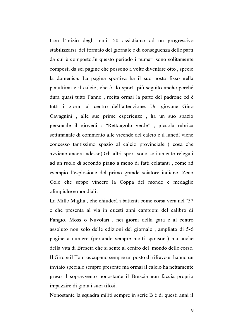 Anteprima della tesi: Le cronache sportive nella stampa bresciana del secondo dopoguerra, Pagina 9