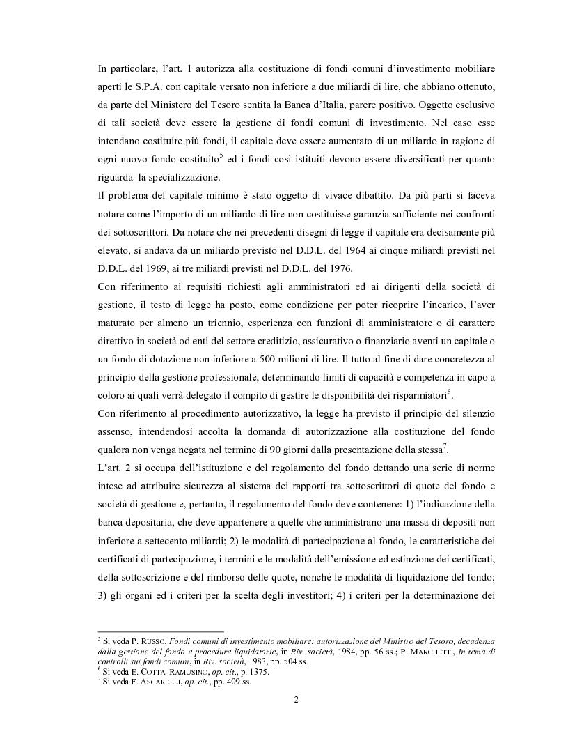 Anteprima della tesi: Le società di gestione del risparmio, Pagina 2