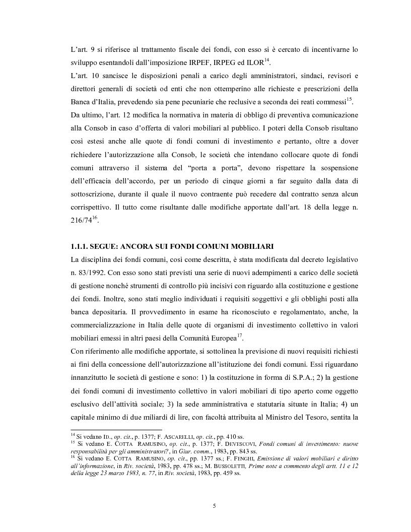 Anteprima della tesi: Le società di gestione del risparmio, Pagina 5