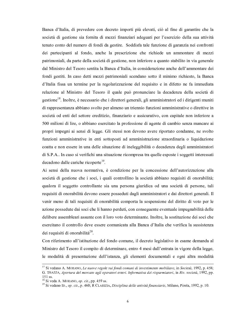 Anteprima della tesi: Le società di gestione del risparmio, Pagina 6