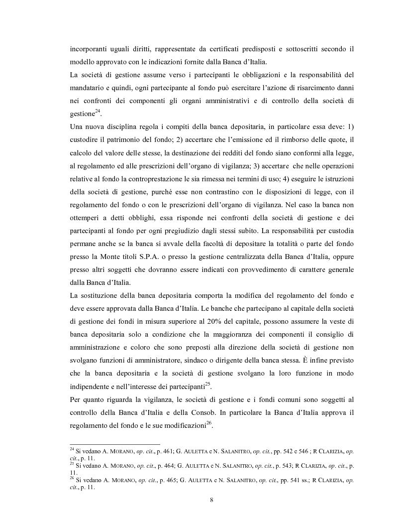 Anteprima della tesi: Le società di gestione del risparmio, Pagina 8