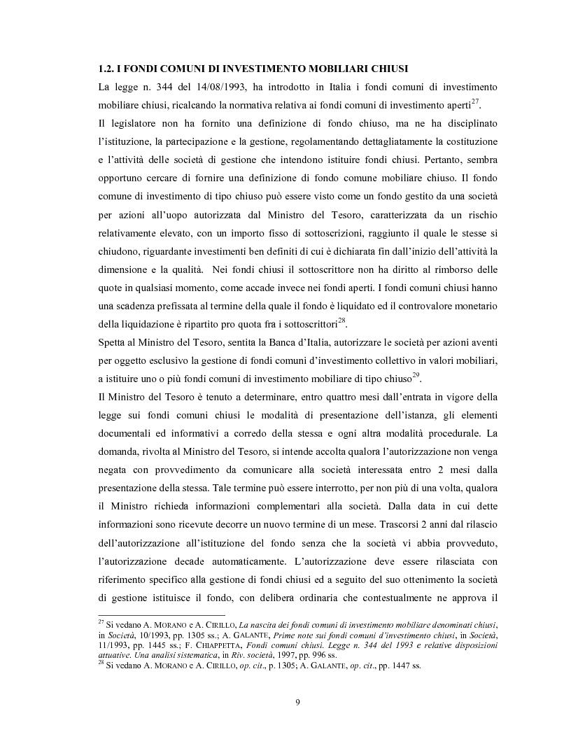 Anteprima della tesi: Le società di gestione del risparmio, Pagina 9