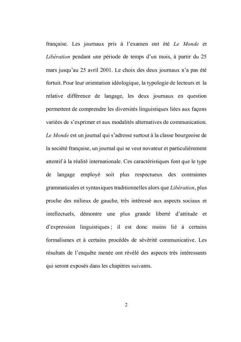 Anteprima della tesi: Formation et place de l'adjectif dans la presse française, Pagina 2