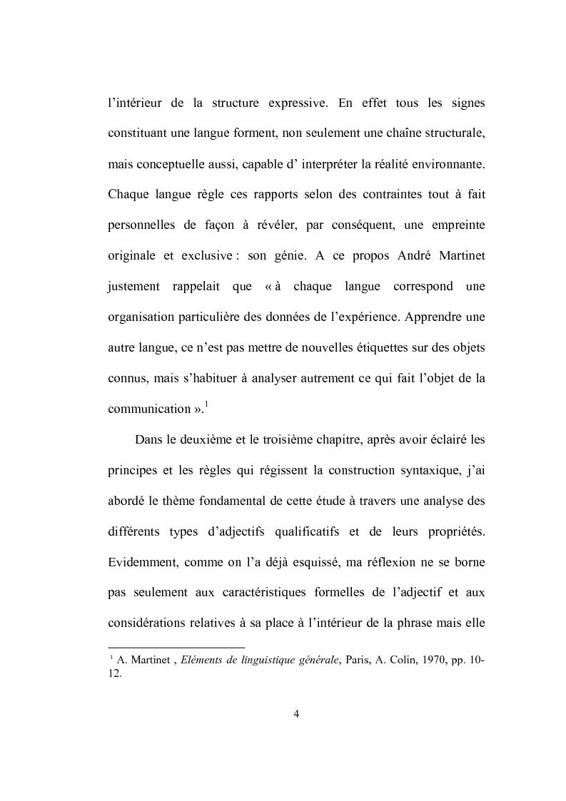 Anteprima della tesi: Formation et place de l'adjectif dans la presse française, Pagina 4