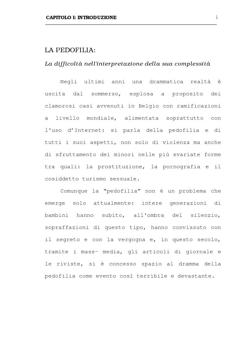 Anteprima della tesi: La pedofilia: aspetti criminologici - psichiatrico forensi, Pagina 1