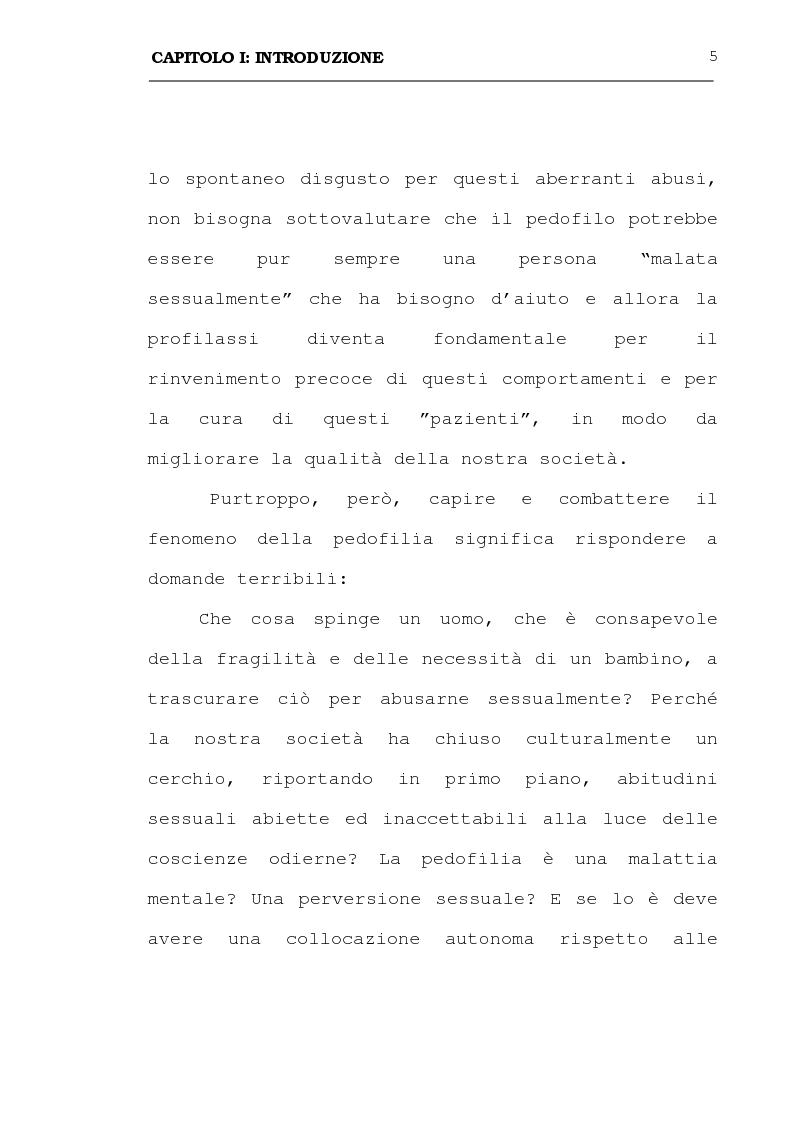 Anteprima della tesi: La pedofilia: aspetti criminologici - psichiatrico forensi, Pagina 5