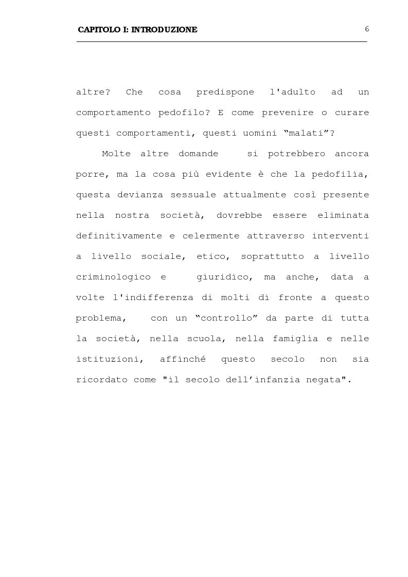 Anteprima della tesi: La pedofilia: aspetti criminologici - psichiatrico forensi, Pagina 6