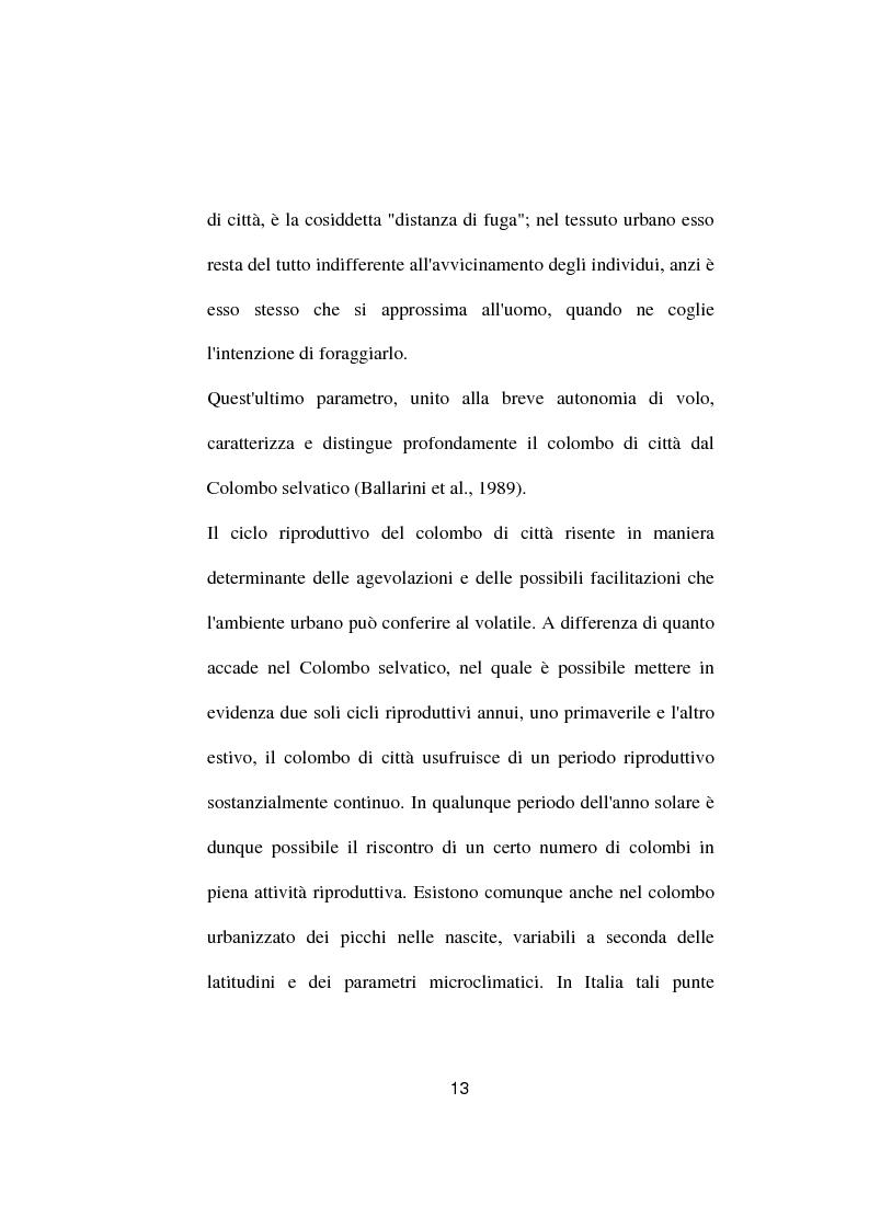 Anteprima della tesi: Ricerche ed osservazioni sullo stato sanitario dei colombi della Città di Palo del Colle, Pagina 12