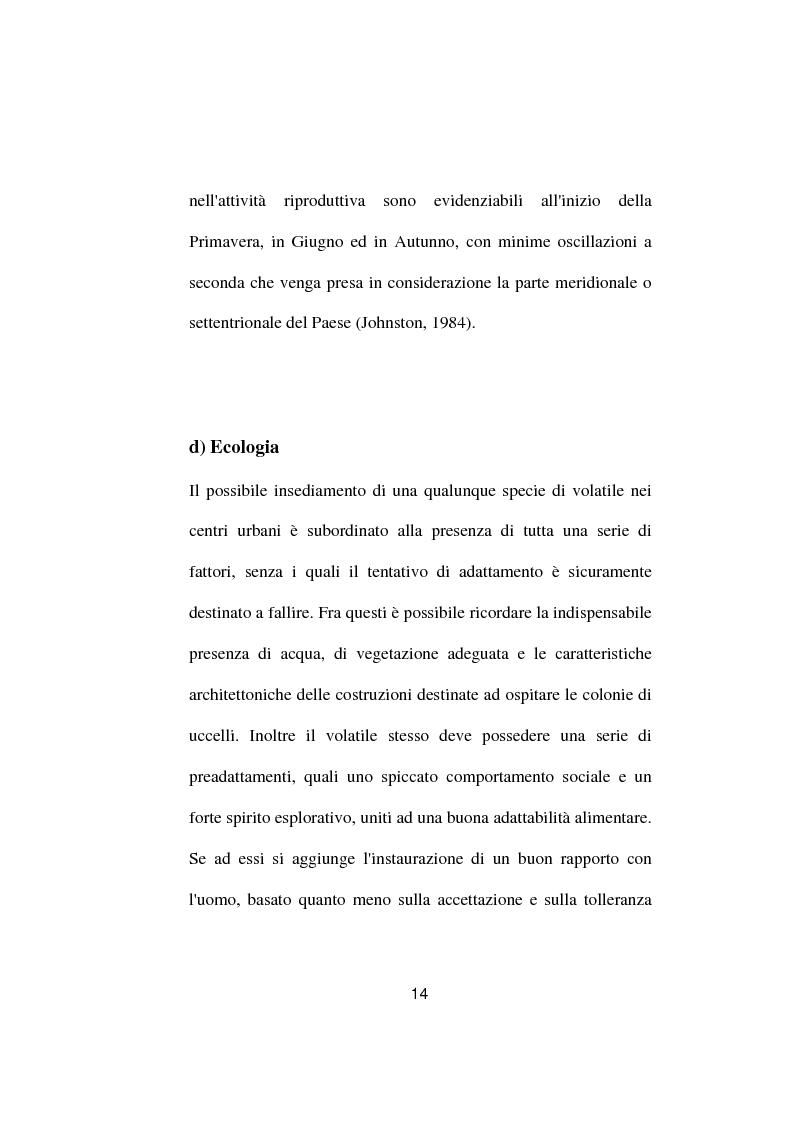 Anteprima della tesi: Ricerche ed osservazioni sullo stato sanitario dei colombi della Città di Palo del Colle, Pagina 13
