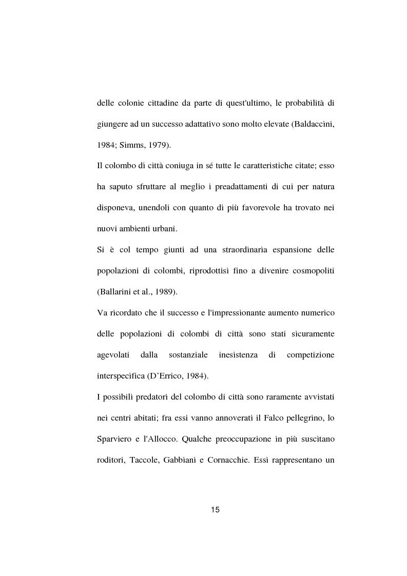Anteprima della tesi: Ricerche ed osservazioni sullo stato sanitario dei colombi della Città di Palo del Colle, Pagina 14