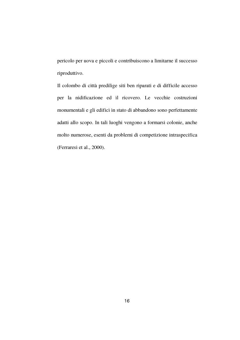 Anteprima della tesi: Ricerche ed osservazioni sullo stato sanitario dei colombi della Città di Palo del Colle, Pagina 15