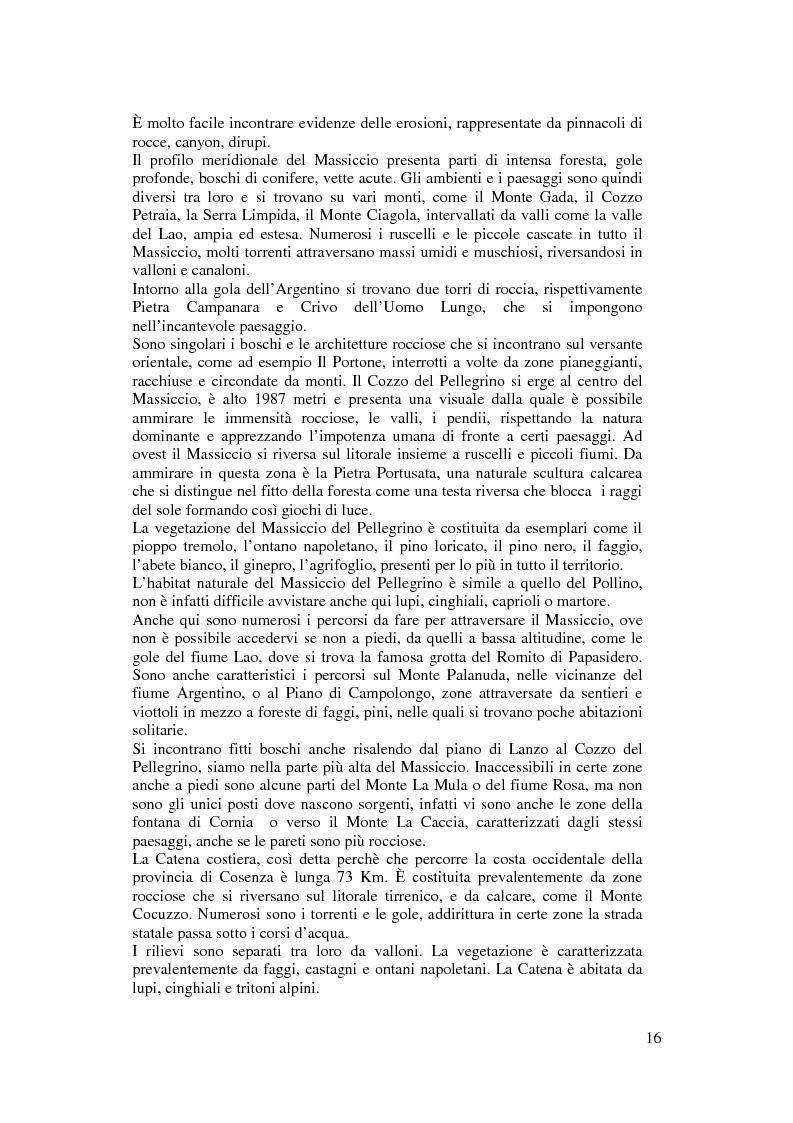 Anteprima della tesi: Per un modello di sviluppo della Calabria fondato sull'ecoturismo, Pagina 10
