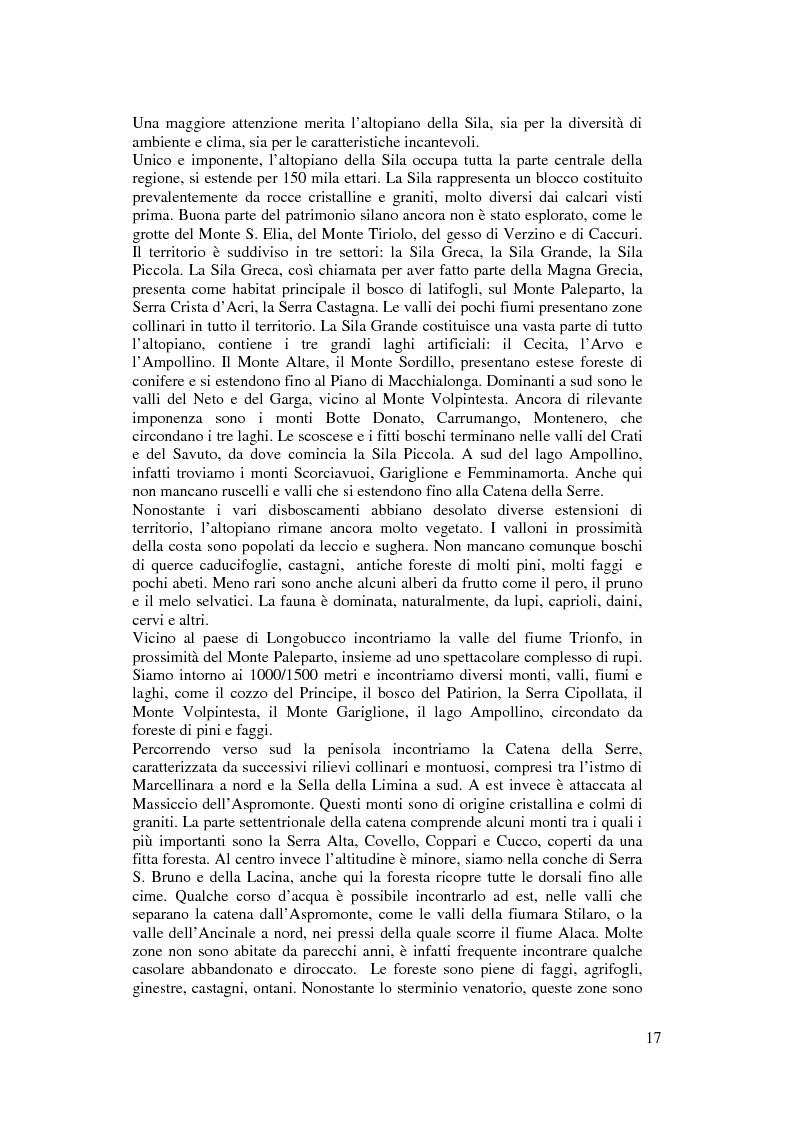 Anteprima della tesi: Per un modello di sviluppo della Calabria fondato sull'ecoturismo, Pagina 11