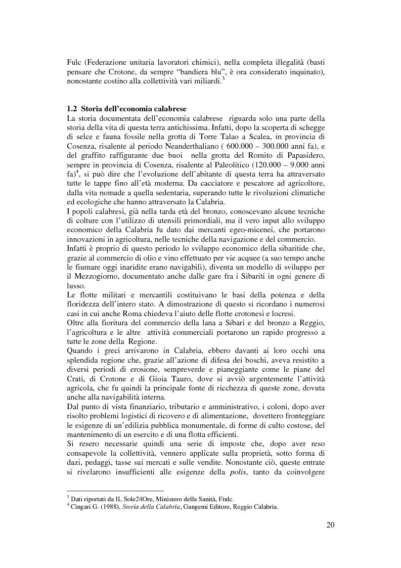 Anteprima della tesi: Per un modello di sviluppo della Calabria fondato sull'ecoturismo, Pagina 14