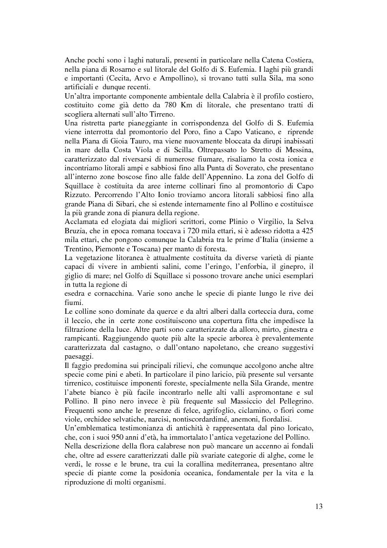 Anteprima della tesi: Per un modello di sviluppo della Calabria fondato sull'ecoturismo, Pagina 7