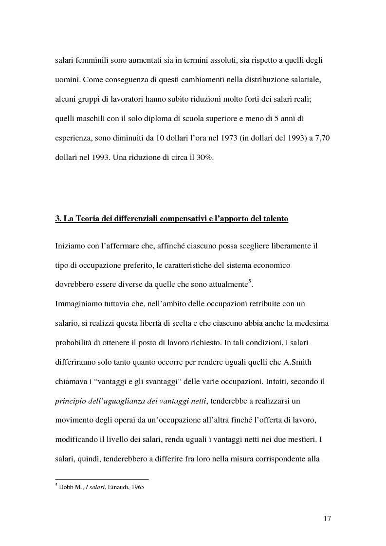 Anteprima della tesi: La teoria economica dei differenziali salariali - Un'applicazione al settore del calcio italiano, Pagina 11
