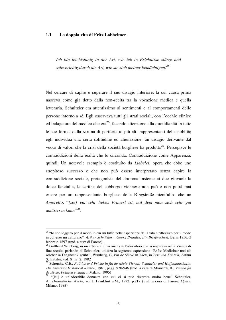 Anteprima della tesi: Schein e Sein: il confine tra finzione e realtà nelle commedie di Arthur Schnitzler, Pagina 14