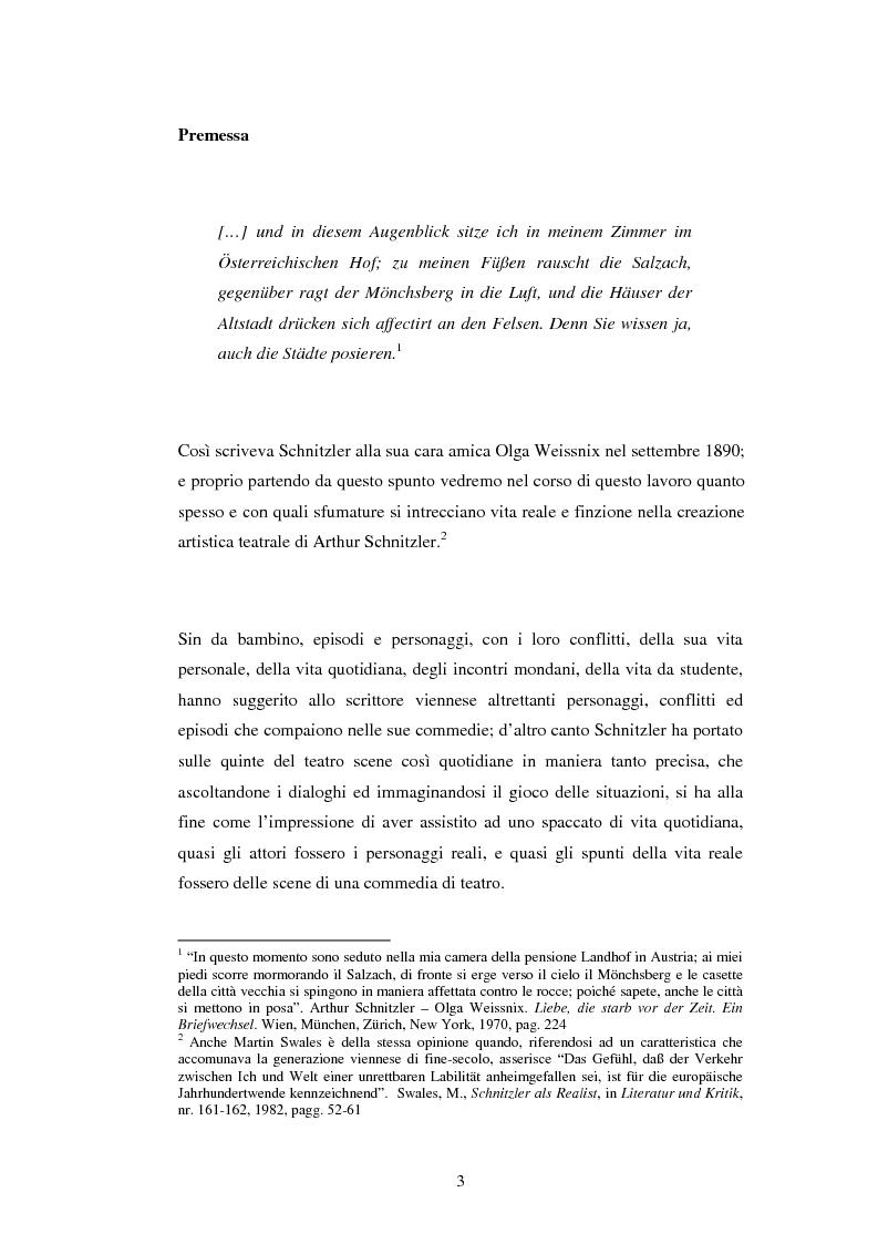 Anteprima della tesi: Schein e Sein: il confine tra finzione e realtà nelle commedie di Arthur Schnitzler, Pagina 3