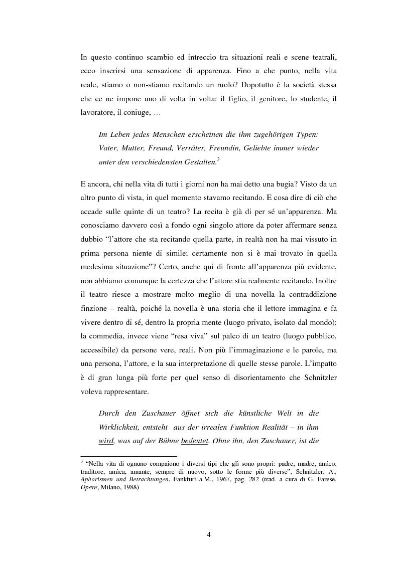 Anteprima della tesi: Schein e Sein: il confine tra finzione e realtà nelle commedie di Arthur Schnitzler, Pagina 4