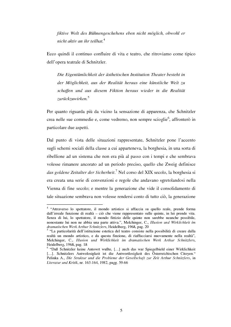 Anteprima della tesi: Schein e Sein: il confine tra finzione e realtà nelle commedie di Arthur Schnitzler, Pagina 5
