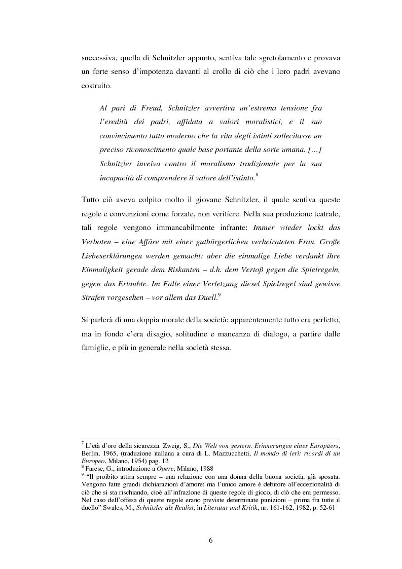 Anteprima della tesi: Schein e Sein: il confine tra finzione e realtà nelle commedie di Arthur Schnitzler, Pagina 6