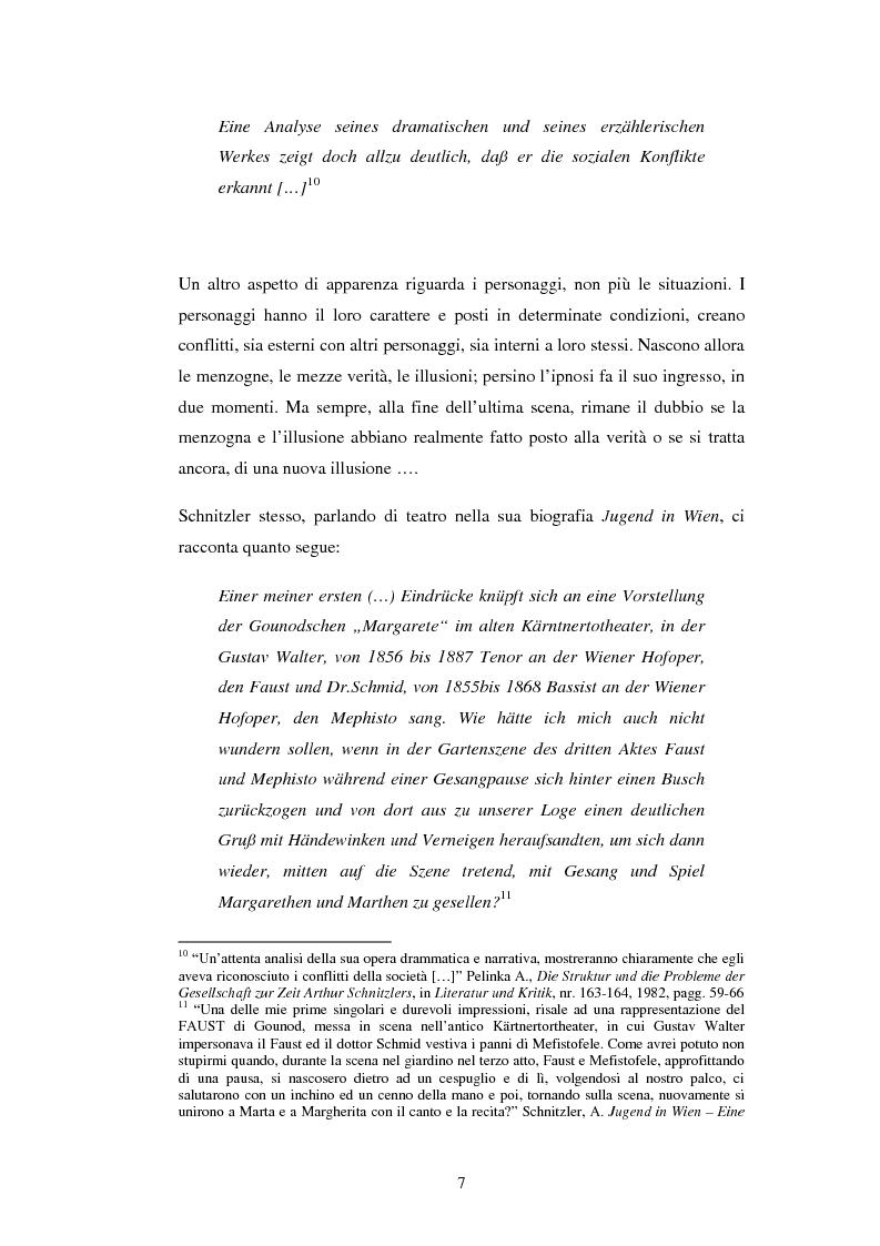 Anteprima della tesi: Schein e Sein: il confine tra finzione e realtà nelle commedie di Arthur Schnitzler, Pagina 7
