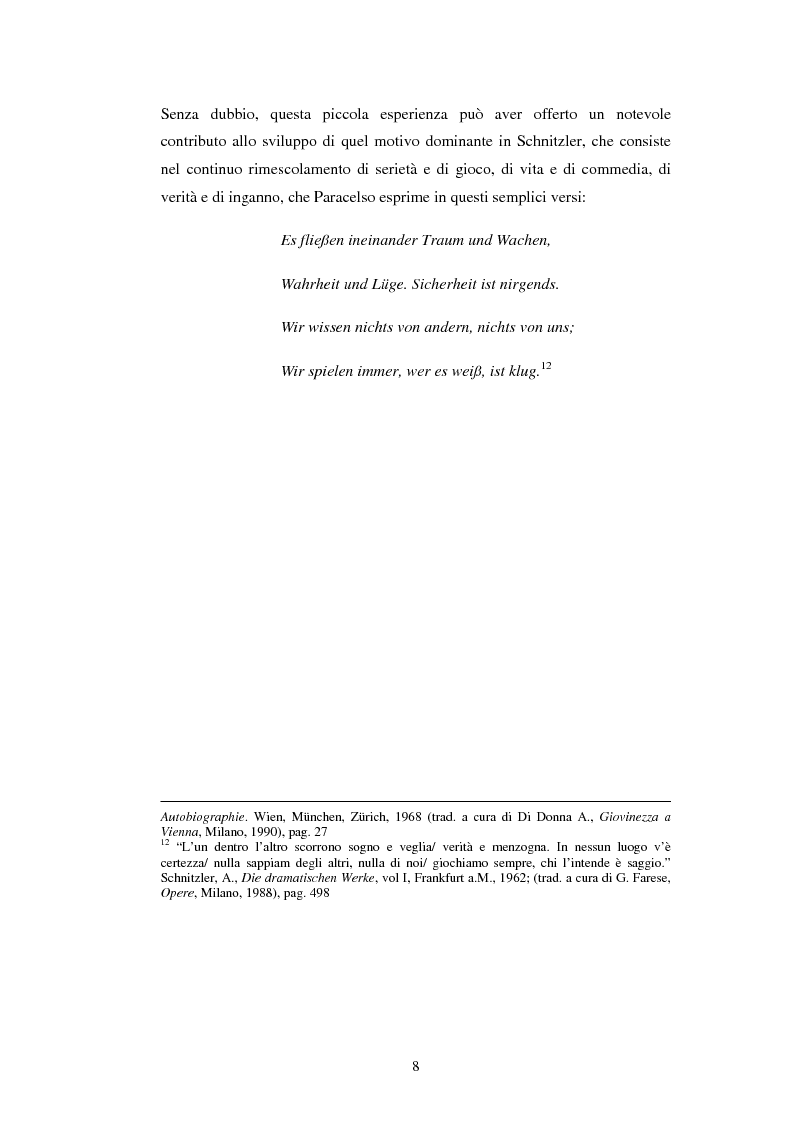 Anteprima della tesi: Schein e Sein: il confine tra finzione e realtà nelle commedie di Arthur Schnitzler, Pagina 8