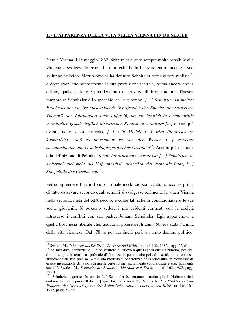 Anteprima della tesi: Schein e Sein: il confine tra finzione e realtà nelle commedie di Arthur Schnitzler, Pagina 9