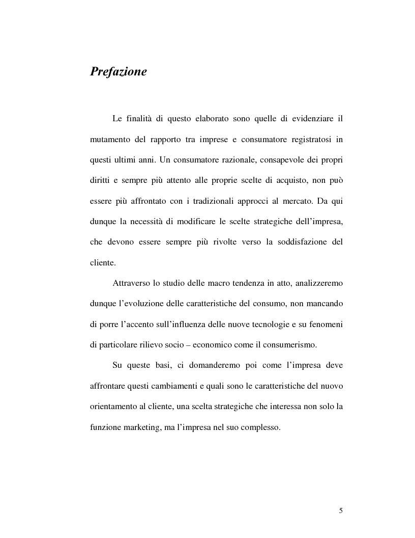 Anteprima della tesi: I nuovi rapporti tra impresa e consumatore: il caso Procter & Gamble, Pagina 1