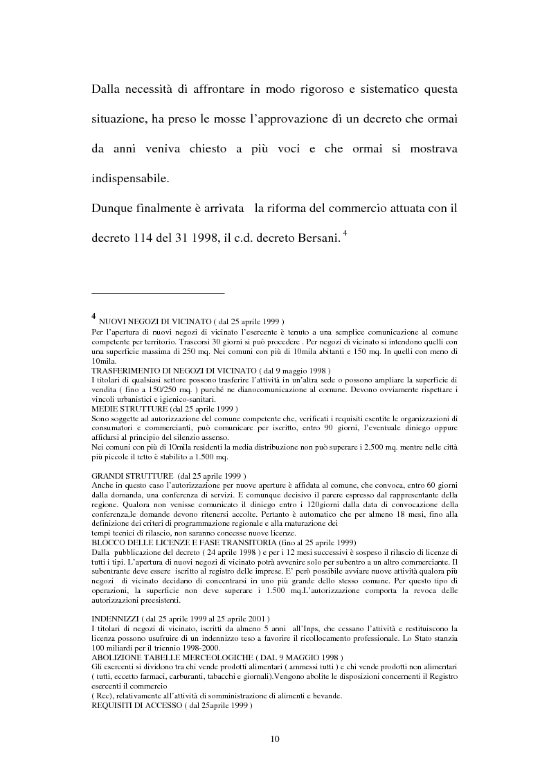 Anteprima della tesi: Le aziende della grande distribuzione in Italia: analisi statistica in una prospettiva di benchmarking, Pagina 10