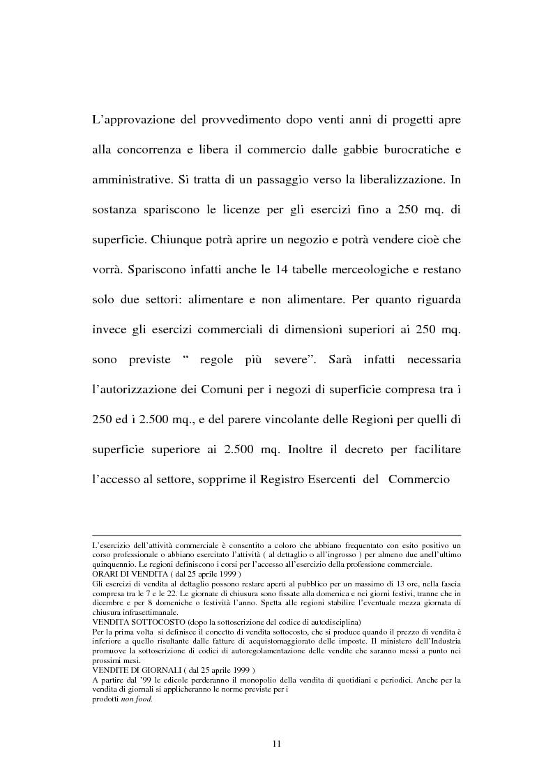 Anteprima della tesi: Le aziende della grande distribuzione in Italia: analisi statistica in una prospettiva di benchmarking, Pagina 11