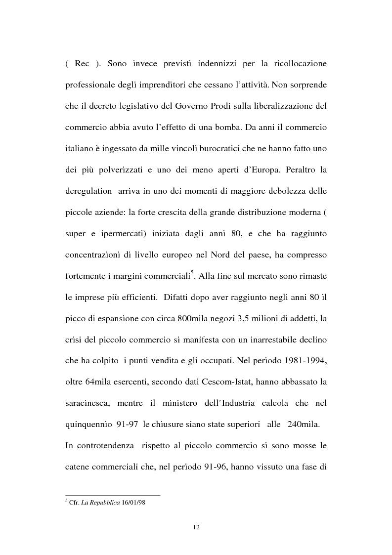 Anteprima della tesi: Le aziende della grande distribuzione in Italia: analisi statistica in una prospettiva di benchmarking, Pagina 12