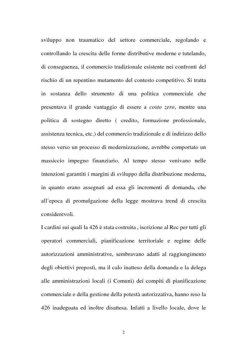 Anteprima della tesi: Le aziende della grande distribuzione in Italia: analisi statistica in una prospettiva di benchmarking, Pagina 2