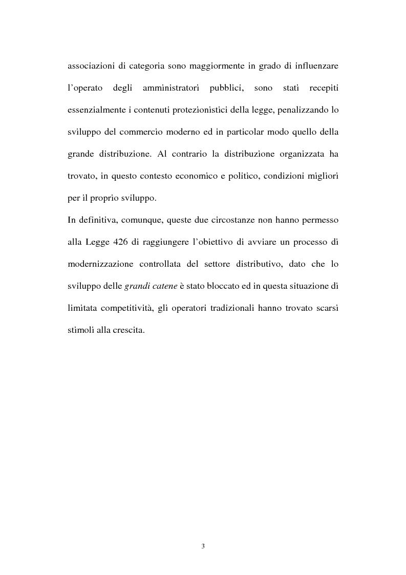 Anteprima della tesi: Le aziende della grande distribuzione in Italia: analisi statistica in una prospettiva di benchmarking, Pagina 3