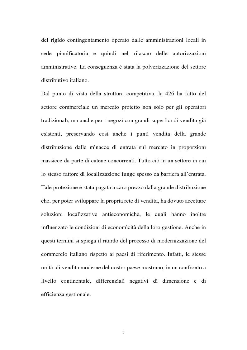 Anteprima della tesi: Le aziende della grande distribuzione in Italia: analisi statistica in una prospettiva di benchmarking, Pagina 5