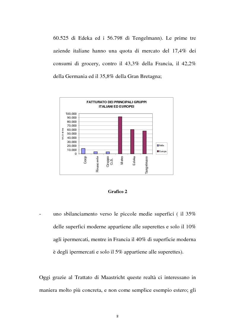 Anteprima della tesi: Le aziende della grande distribuzione in Italia: analisi statistica in una prospettiva di benchmarking, Pagina 8