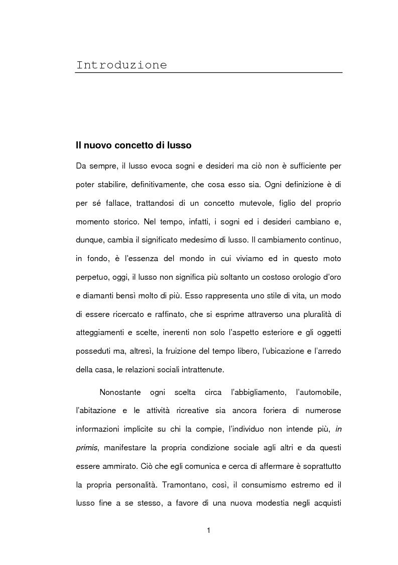 Anteprima della tesi: Le sfide della distribuzione diretta per le Luxury Brands, Pagina 1