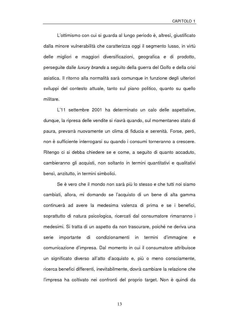 Anteprima della tesi: Le sfide della distribuzione diretta per le Luxury Brands, Pagina 13
