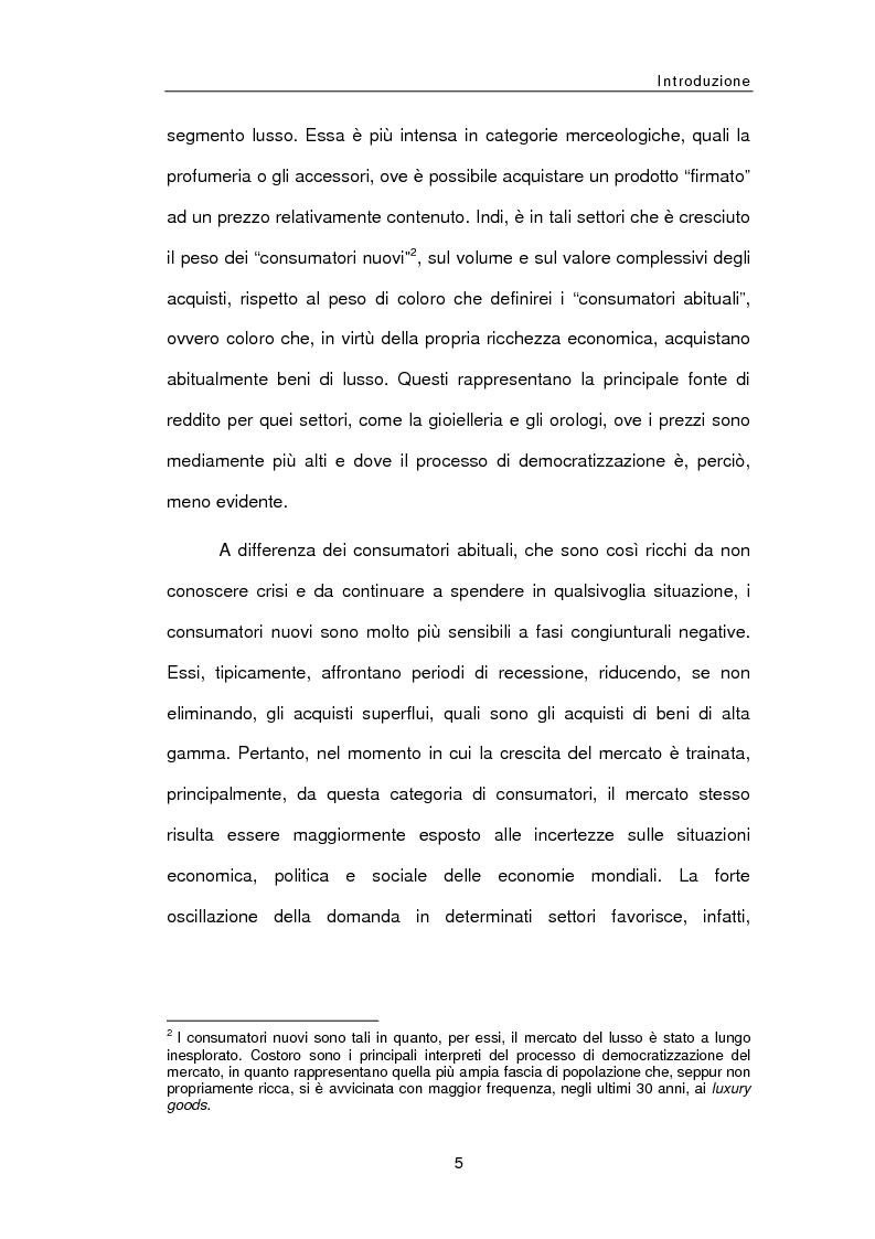 Anteprima della tesi: Le sfide della distribuzione diretta per le Luxury Brands, Pagina 5