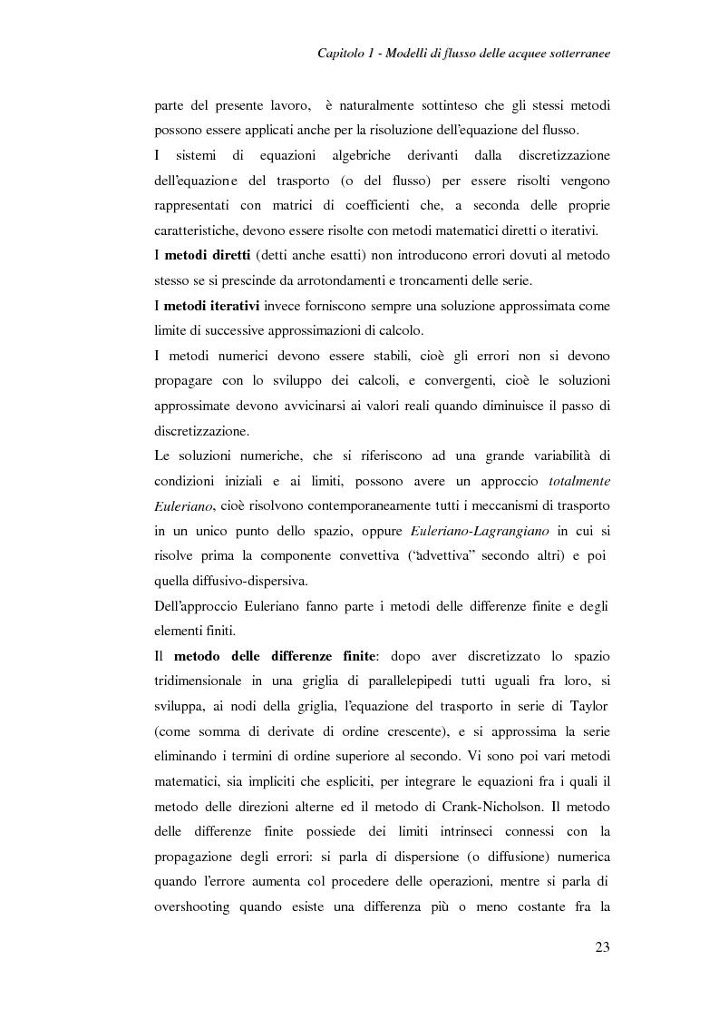 Anteprima della tesi: Modellazione del flusso idrico nel sottosuolo dell'area industriale ravennate, Pagina 10
