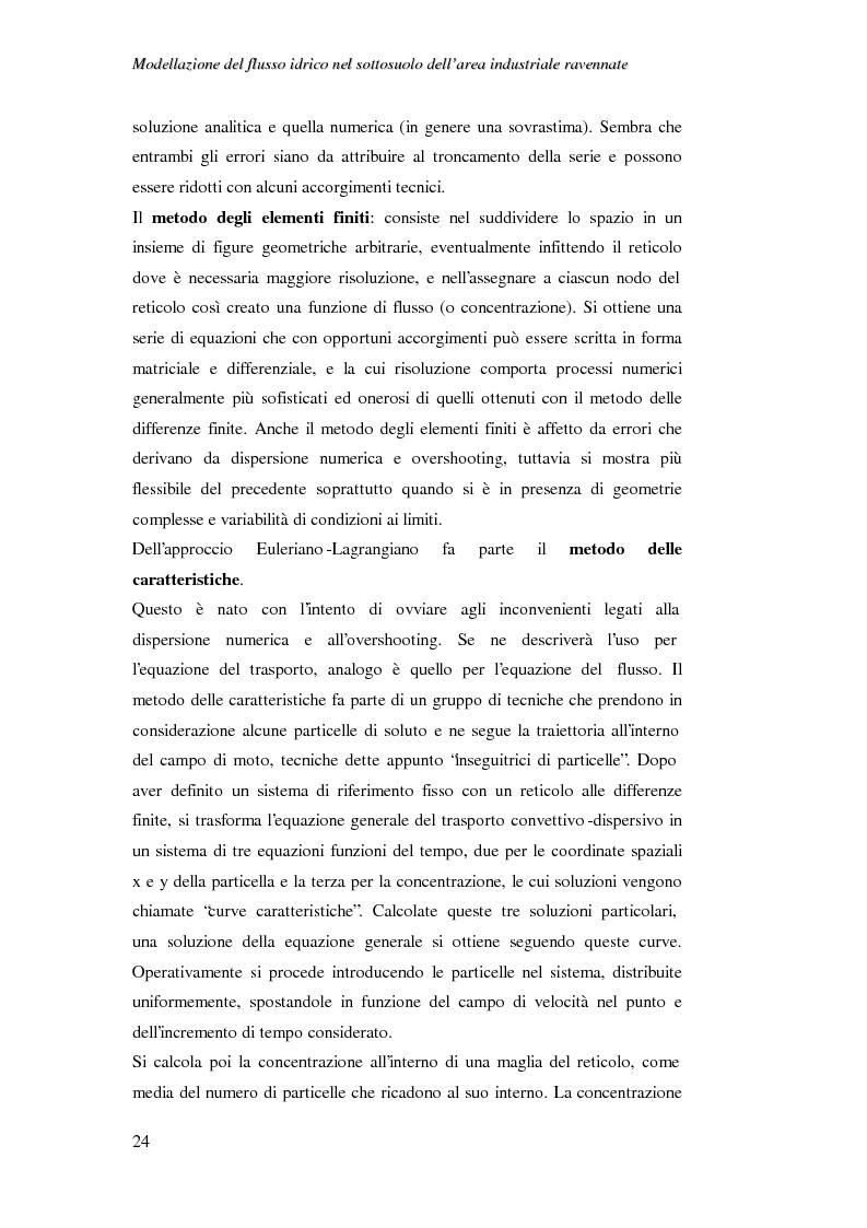 Anteprima della tesi: Modellazione del flusso idrico nel sottosuolo dell'area industriale ravennate, Pagina 11