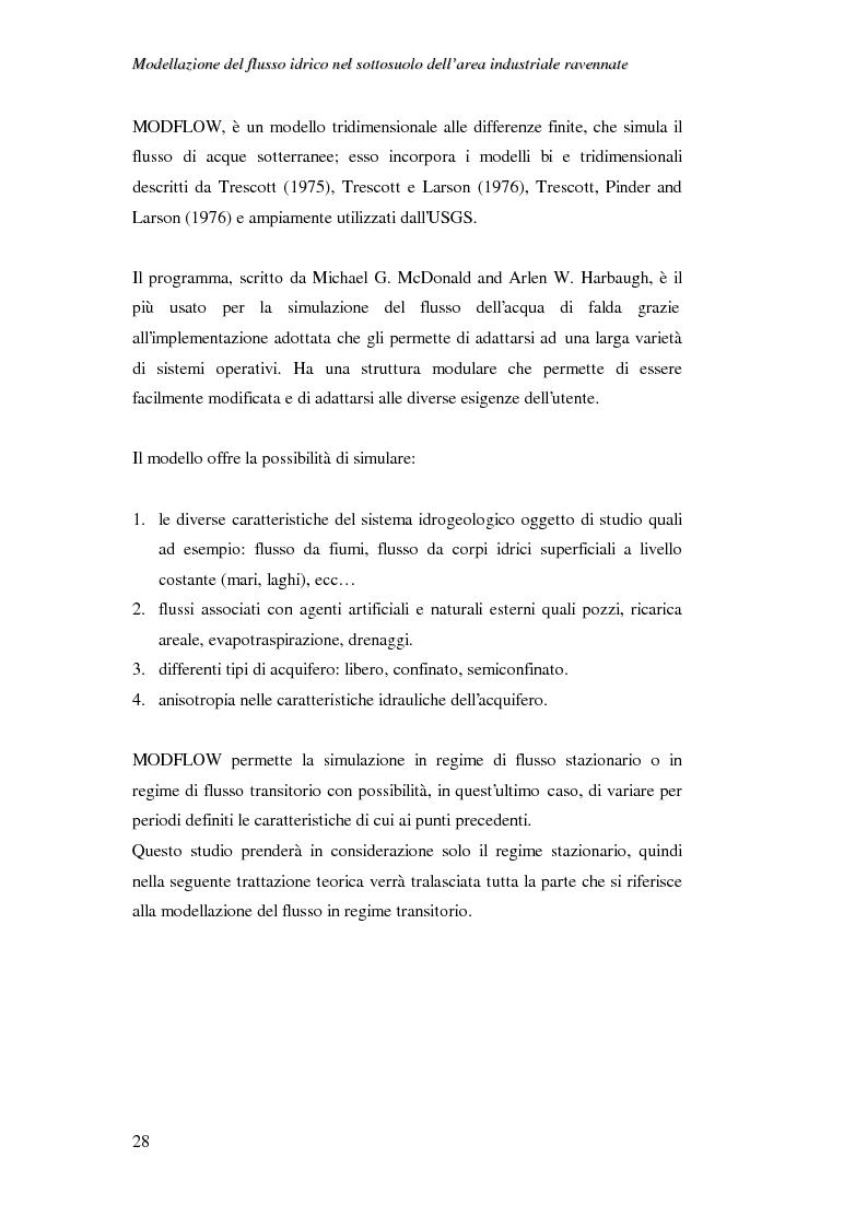 Anteprima della tesi: Modellazione del flusso idrico nel sottosuolo dell'area industriale ravennate, Pagina 14