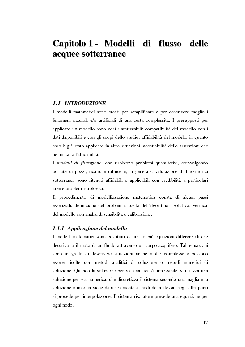 Anteprima della tesi: Modellazione del flusso idrico nel sottosuolo dell'area industriale ravennate, Pagina 4