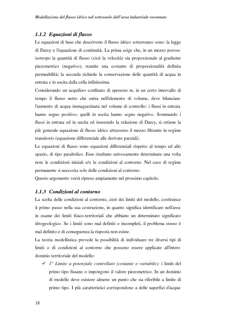 Anteprima della tesi: Modellazione del flusso idrico nel sottosuolo dell'area industriale ravennate, Pagina 5