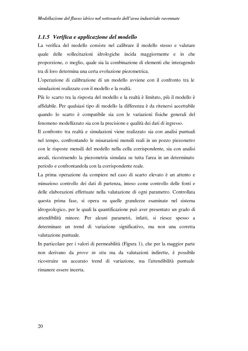 Anteprima della tesi: Modellazione del flusso idrico nel sottosuolo dell'area industriale ravennate, Pagina 7