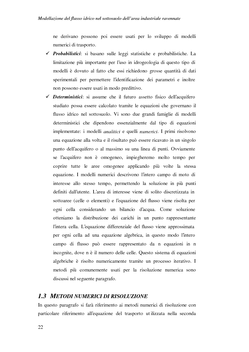 Anteprima della tesi: Modellazione del flusso idrico nel sottosuolo dell'area industriale ravennate, Pagina 9