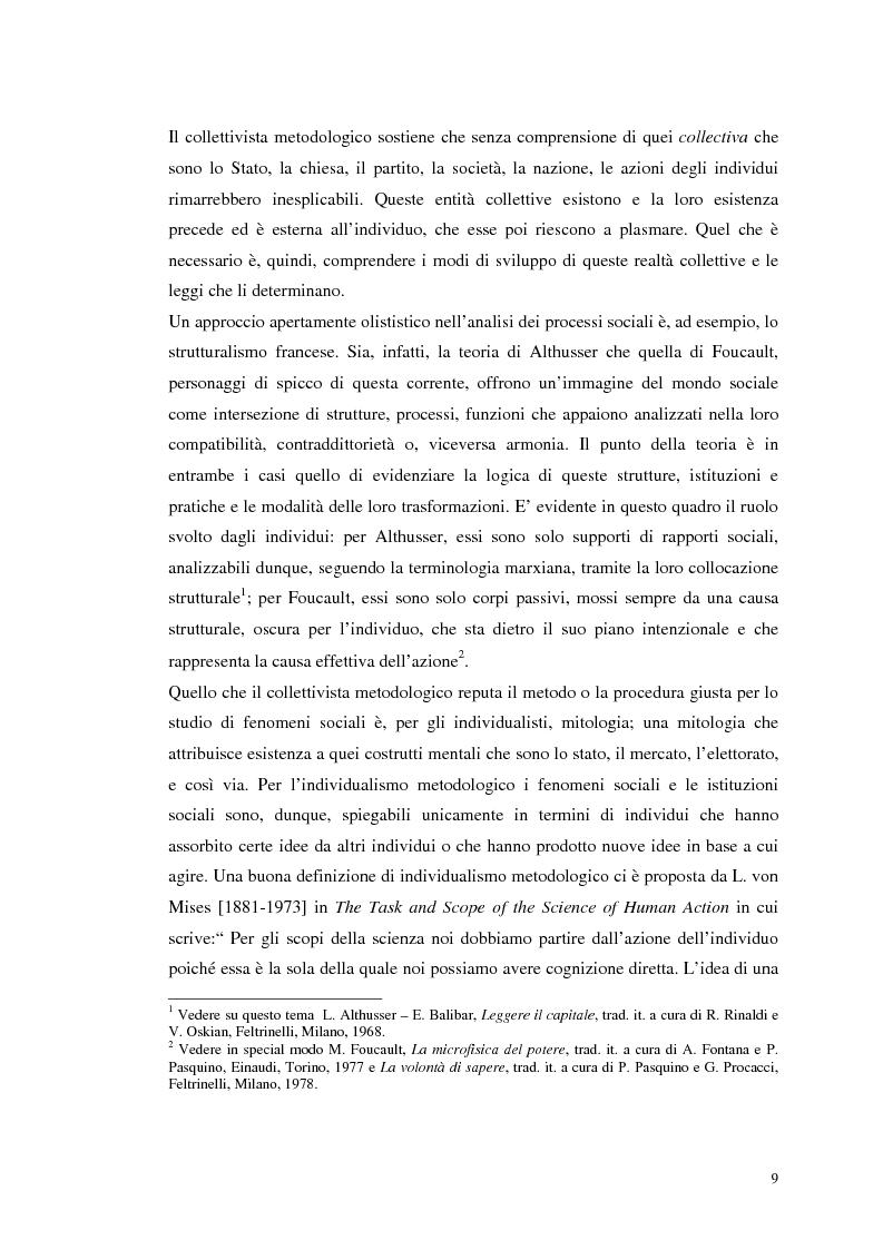 Anteprima della tesi: Dall'individualismo alla cooperazione nella teoria della scelta economica, Pagina 10