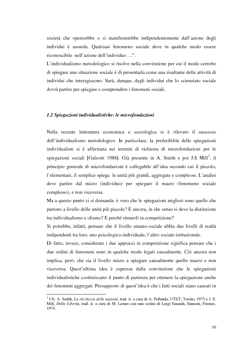 Anteprima della tesi: Dall'individualismo alla cooperazione nella teoria della scelta economica, Pagina 11
