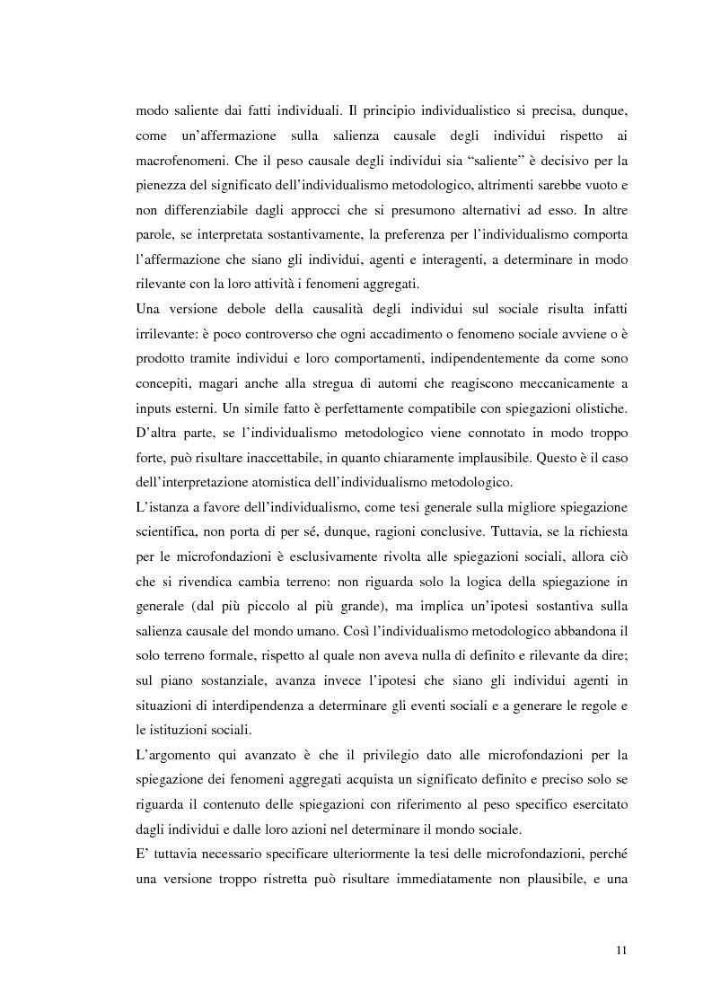 Anteprima della tesi: Dall'individualismo alla cooperazione nella teoria della scelta economica, Pagina 12